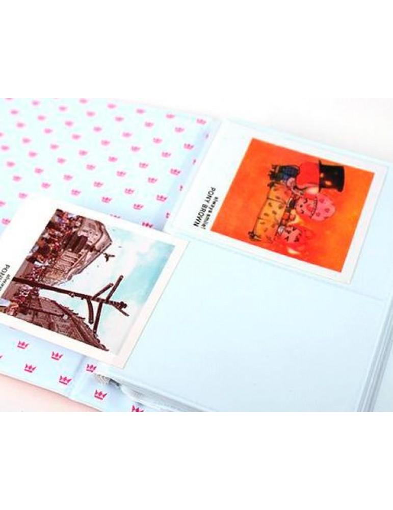 Golden Crown Photo Album for Fujifilm Instax Mini Films - Beige