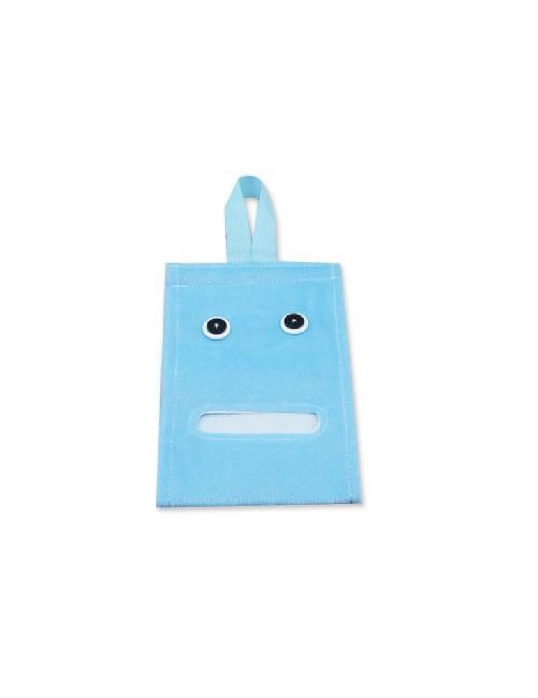 Cartoon Plush Toilet Paper Cover - Blue