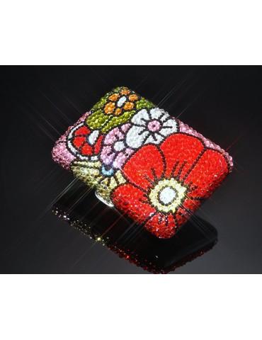 Sweet Bouquet Swarovski Crystallized Cigarette Case