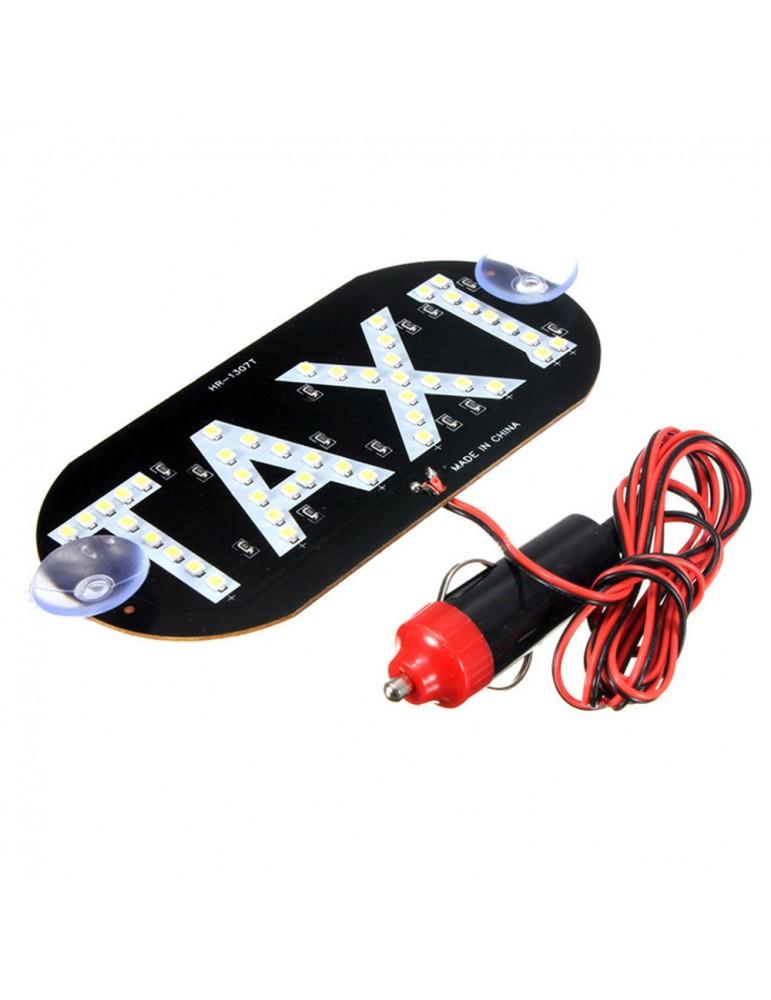 1 Piece White Taxi Cab Roof LED Sign Light Inside Windshield Lamp Cigarette Socket 12V