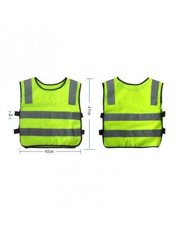 Safety Children Waistcoat Vest Grey Reflective Strips Traffic Clothes