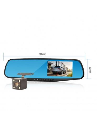 4.3 Inch 1080P HD Car Rearview Mirror Dvr Full Driving Video Recorder Camera Reverse Image Dual Lens Dash Cam