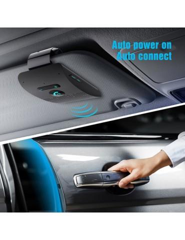 Universal Bluetooth Car Kit Wireless Handsfree Speaker Visor For Smart Phone Fast