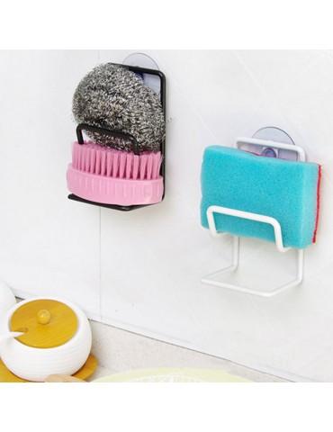 Kitchen Organizer Rack Sink Storage Draining Sponge Holder Suction Cup Tool